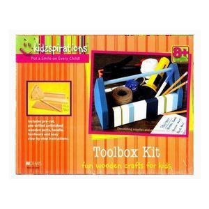 Kidzspirations Wooden Craft Toolbox Kit